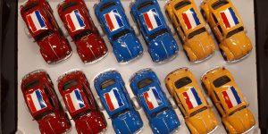 Volkswagen Beetle pakket 12 stuks, meerdere kleuren 1/43 Welly
