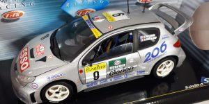 Peugeot 206 WRC 1999 & 2000 (Zilver) 1/18 Solido