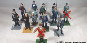 2e Wereldoorlog figuurtjes (Duits leger, 11 stuks)