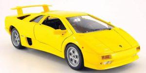 Lamborghini Diablo (1990) Geel 1/18 Bburago