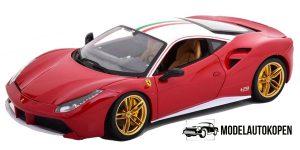 Ferrari 488 GTB (Rood/Wit) 1/18 Bburago Limited Edition