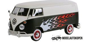 Volkswagen T1 Type 2 Delivery Van (Zwart/Wit) 1/24 Motor Max