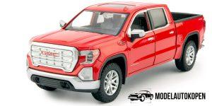 GMC Sierra 1500SLT Crew Cab 2019 (Rood) 1/27 Motor Max