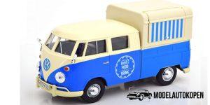 Volkswagen Type 2 (T1) Pickup - Food Truck (Blauw/Wit) 1/24 Motor Max