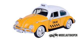 Volkswagen Kever Taxi (Geel/Wit) 1/24 Motor Max
