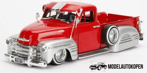 1951 Chevrolet Pickup Custom Shop (Rood/Zilver) 1/24 Jada