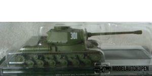 Die Cast Military Small Tank HC-2 (Groen) 1/72