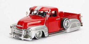 1951 Chevrolet Pickup Custom Shop (Rood/Zilver) 1/24 Jada