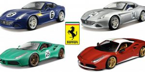 Ferrari Limited Edition Set 4 stuks 1/18 Bburago
