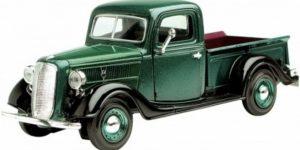 Ford Pickup 1937 (Donkergroen) 1/24 Motor Max