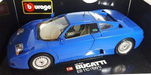 1991 Bugatti EB 110 (Blauw) 1/18 Bburago