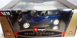 2000 Mini Cooper (Blauw) 1/18 Bburago