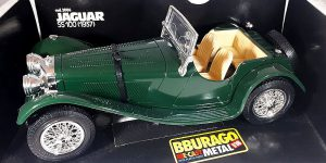 1937 Jaguar SS 100 (Groen) 1/18 Bburago