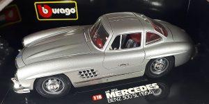 1954 Mercedes-Benz 300 SL (Zilver) 1/18 Bburago
