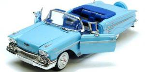 Chevrolet Impala Cabriolet 1958 (Blauw) 1/24 Motor Max