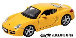 Porsche Cayman S (Geel) 1/32 Bburago