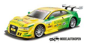 Audi A5 DTM #9 Mike Rockenfeller (Groen/Geel) 1/32 Bburago