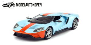 2019 Ford GT (Lichtblauw/Oranje) 1/32 Bburago