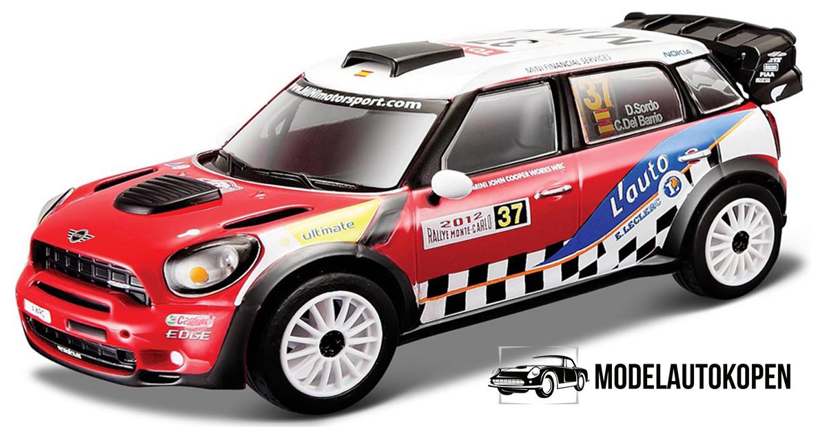 Mini Cooper WRC #37 Dani Sordo (Rood/Wit) 1/32 Bburago