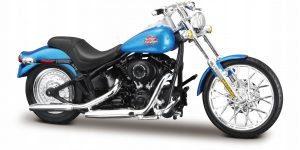 Harley Davidson FXSTB Night Train 2002 (Blauw) 1/18 Maisto