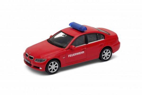 BMW 330i Notarzt Brandweer auto (Rood) 1/43 Welly