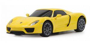 Porsche 918 Spyder (Geel) 1/43 Welly