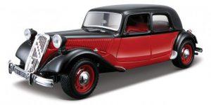 Citroën 15 CV TA (1938) (Rood/Zwart) 1/24 Bburago