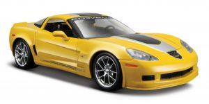 Chevrolet Corvette Z06 GT1 (Geel) 1:24 Maisto Design