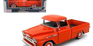 1958 Chevy Apache Fleetside Pickup (Oranje) 1/24 Motor Max