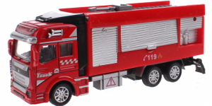 Brandweerauto Uitschuif Ladder Pull Back Metal (Rood) Toi Toys
