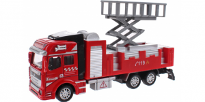 Brandweerauto Uitschuif Platform Pull Back Metal (Rood) Toi Toys