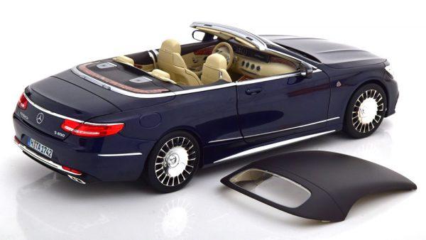 2018 Mercedes-Benz Maybach S650 Cabriolet (Blauw) 1/18 Norev
