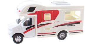 Camper Pull Back Metal (Wit/Rood/Zwart) 13 cm Toi-Toys