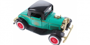 Classic Car Metal Pull back M (Turquoise) 12 cm Toi-Toys