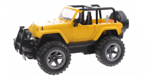Cross Country Off-Road Jeep met Licht en Geluid (Geel) 21 cm Toi Toys