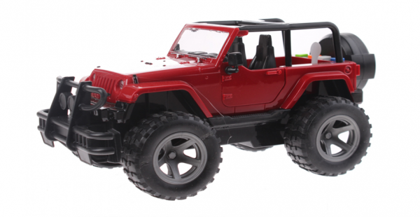 Cross Country Off-Road Jeep met Licht en Geluid (Rood) 21 cm Toi Toys