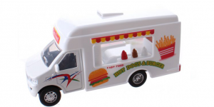 Food Truck Metal Pull Back (Wit) 12 cm Toi-Toys