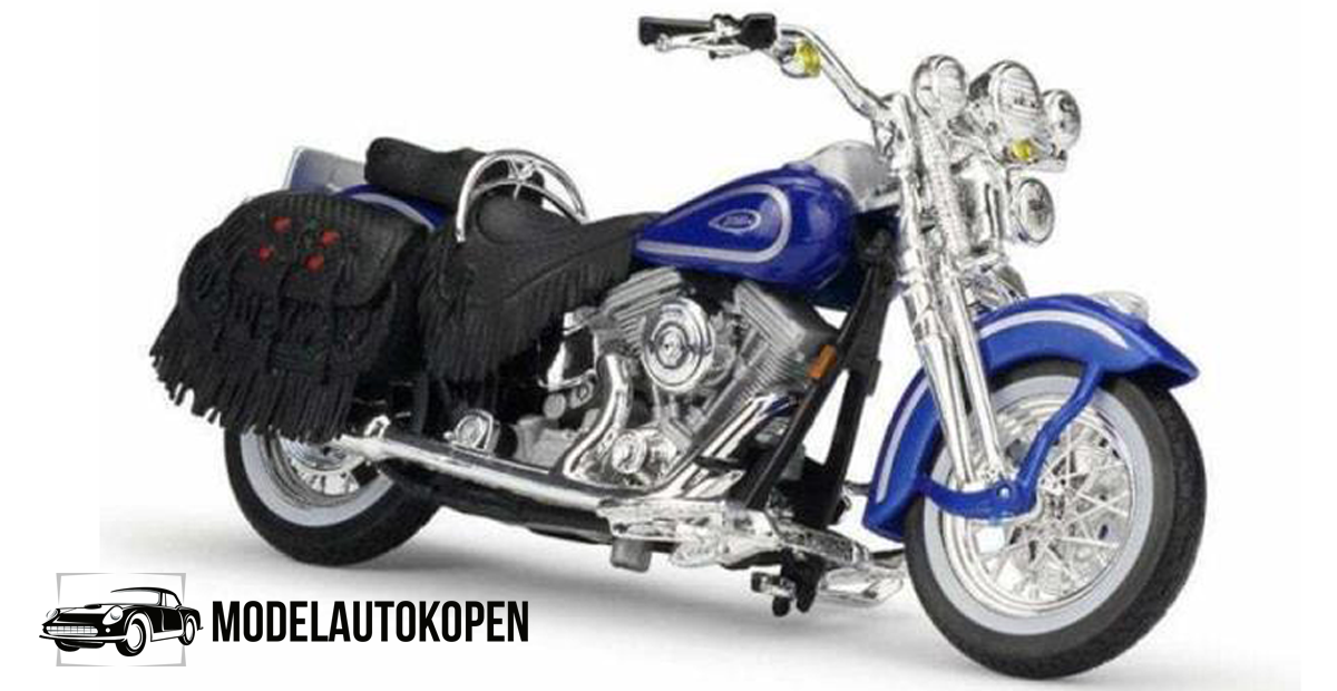 Harley Davidson FLSTS Heritage Softail Springer 1999 (Blauw)