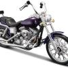 Harley Davidson FXDWG Dyna Wide Glide (Paars) 1/18 Maisto