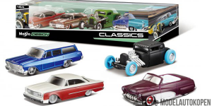 Maisto Design 4 Pack Classics Set