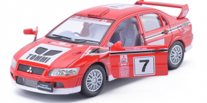 Mitsubishi Lancer Evo VII WRC #7 (Rood