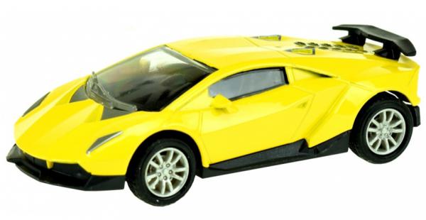 Street Race Superauto Metal Pull Back (Geel) 1/43 Toi-Toys