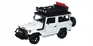 Toyota FJ40 Land Cruiser (Wit) 1/24 Motor Max