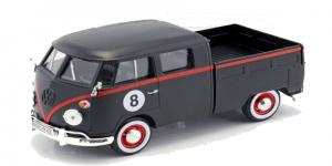 Volkswagen T1 Type 2 Pickup (Zwart) 1/24 Motor Max