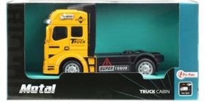 Vrachtwagen Truck Cabin Metal Pull Back (Geel) 12 cm Toi Toys