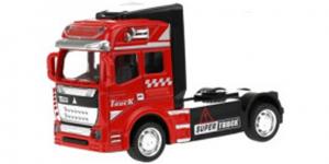 Vrachtwagen Truck Cabin Metal Pull Back (Rood) 12 cm Toi Toys