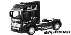 Vrachtwagen Truck Cabin Metal Pull Back (Zwart) 12 cm Toi Toys