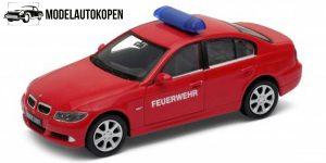 BMW 330i Feuerwehr Brandweer auto (Rood) 1/43 Welly