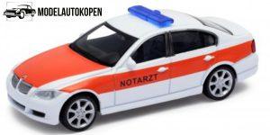 BMW 330i Notarzt Ambulance auto (Wit) 1/43 Welly