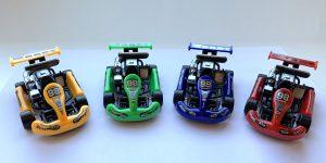 Turbo Racers Kart Auto Set 4 stuks (Rood Geel Blauw Groen) 9 cm Toi-Toys